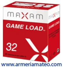 CARTUCHOS MAXAM GAME LOAD 32 GRS