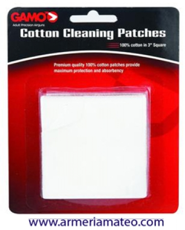 GAMO Cotton Cleaning Patches 100% Cotton