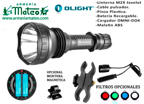 KIT OLIGHT M2X JAVELOT 1050 LUM RECARGABLE