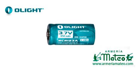 BATERIA RECARGABLE OLIGHT CRC123-650