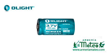 BATERIA RECARGABLE OLIGHT CRC123-650