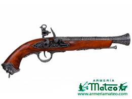 pistola chispa siglo XVIII