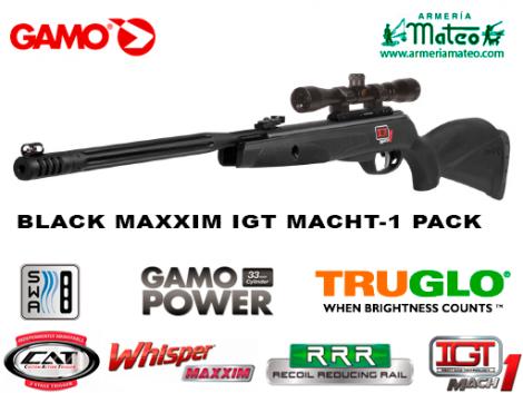 CARABINA GAMO BLACK MAXXIM IGT MACHT -1 PACK OFERTA