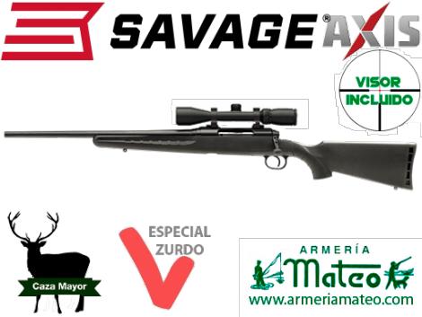Rifle Savage Zurdos conn visor