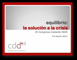 Equilibrio, la solución a la crisis