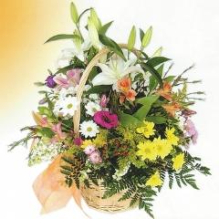 SEASONAL FLOWERS BASKET