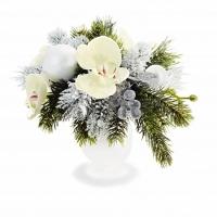 ORCHID CHRISTMAS TABLE ARRANGEMENT