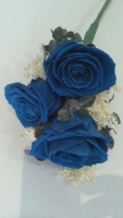 3 BLUE PRESERVED ROSES BOUQUET