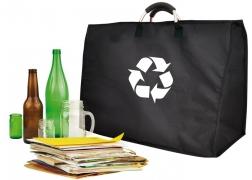 Bolsa de reciclaje 3 compartimentos negra Iris.