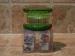 Picadora de ajo manual caja redonda verde.