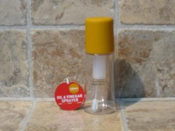 Aceitera pulverizador spray mostaza.
