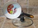 Sartén cerámica honda Ibili inducción con tapadera guisera Confort 24 cms.