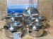 bateria cocina magefesa senso nueve piezas inoxidable tapadera inoxidable y cristal