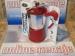 Cafetera inducción Fantasia aluminio roja 9 tazas.