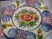 Bandeja fuente para patatas y ocho salsa multiusos decorada a mano