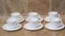 Taza con plato té 16 cls. Trianon 6 unidades con plato