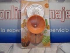 Cortador doble espiral y juliana con protector Metaltex