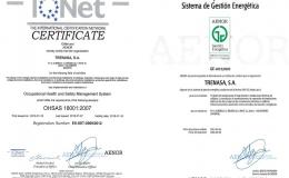 Certificado OHSAS 18001 y Eficiencia Energética