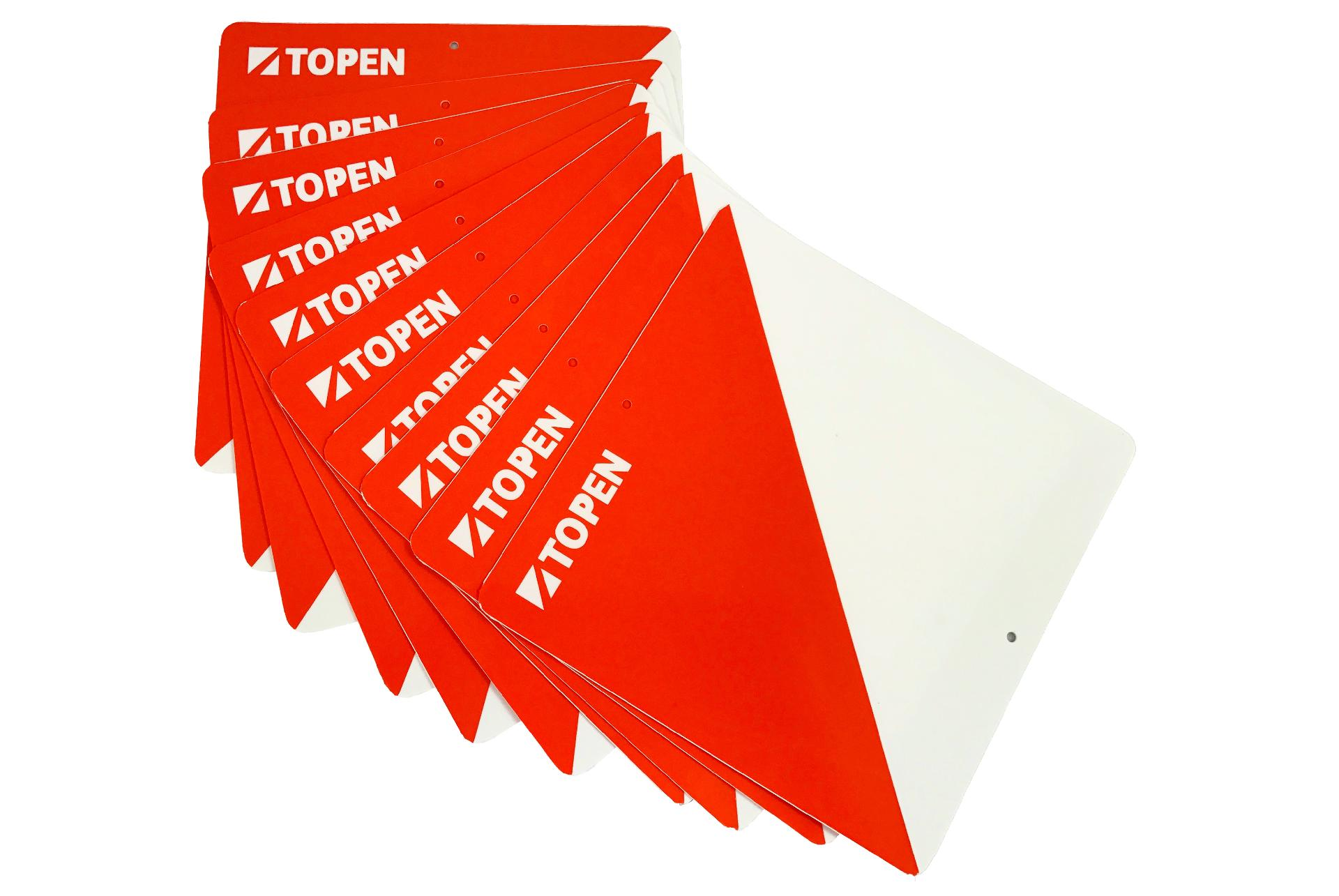 Topen 10 Plastic Markers 15X15