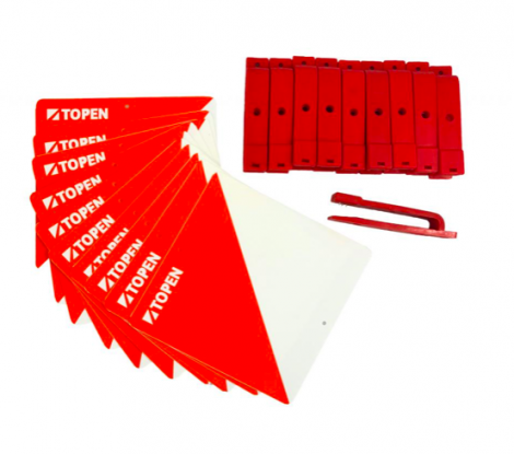 Topen 10 Plastic Markers 15x15 + 10 punches