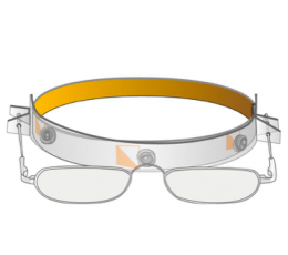 Vapro Halfframe on headband glasses