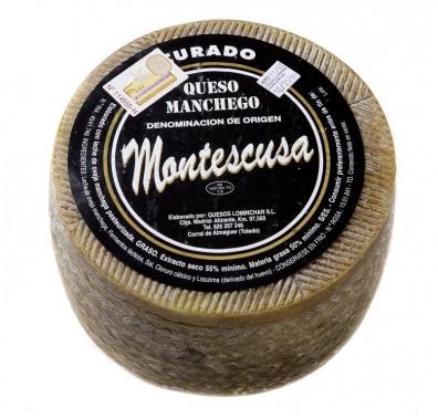 Queso Mancheago curado D.O. Montescusa