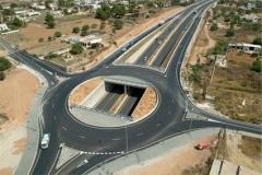Carretera de acceso al aeropuerto de Ibiza (España)