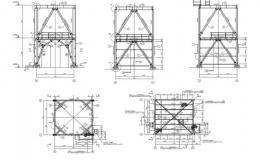 Estructura metálica para un soporte de silo