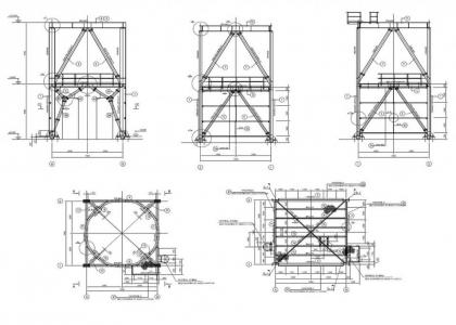 Estructura Metálica Para Un Soporte De Silo Gabinete De