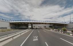 Puente sobre la M-45 en el Ensanche de Vallecas (España)