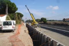 Variante este de la plataforma en la red ferroviaria Madrid-Valladolid (España)