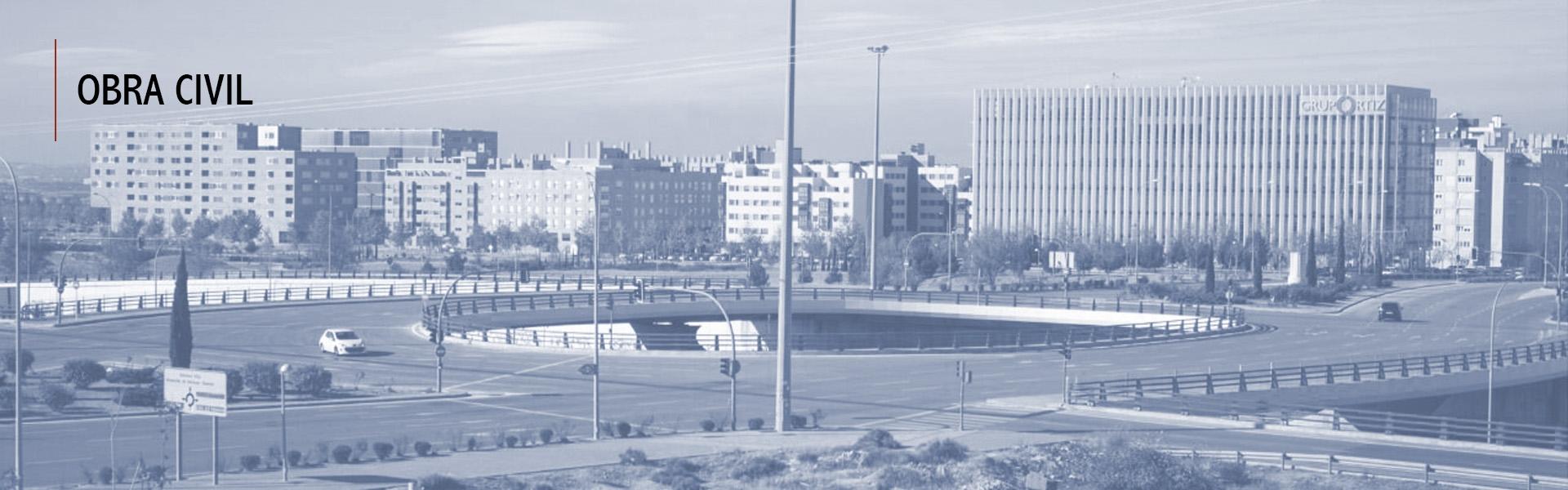 Madrid - Puente-rotonda sobre la carretera M45