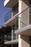 Barandilla de vidrio sobre soporte exterior