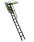 Escalera plegables escamoteables tramo metal