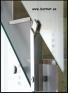 Barandilla de vidrio Square de soportes