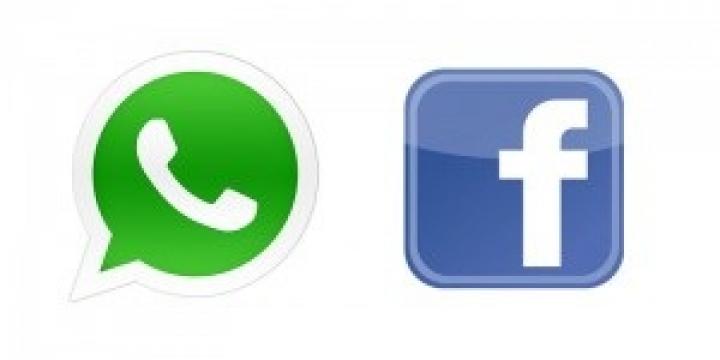 whatsapp , facebook