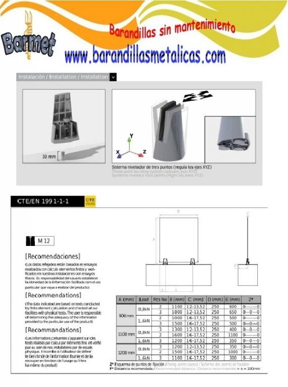 Instalación de barandilla al aire CC-780
