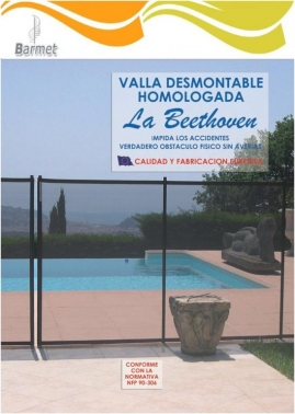 Valla de piscina Beethoven desmontable