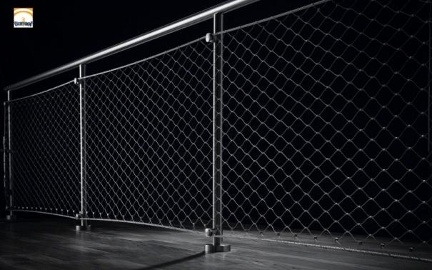 Barandilla de malla de inoxidable network - Accesorios de acero inoxidable para barandillas ...