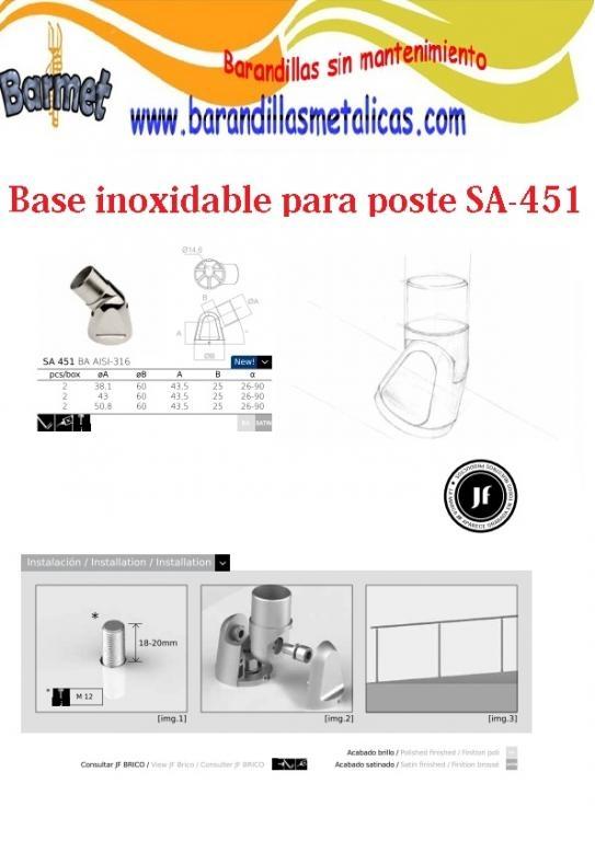 Base para postes SA-451