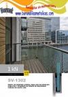 barandilla de vidrio al aire jg barmet 1kn montaje lateral SV-1302