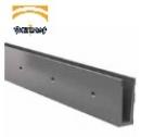 perfil de aluminio para barandilla de vidrio al aire SV1302-2 anodizado comenza serie jf barmet