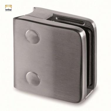 Pinza para vidrio de acero inoxidable satinado para poste redondo D43,3mm