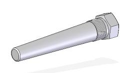 Termopozo barra perforada con rosca