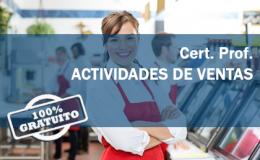 Certificado de Profesionalidad Actividades de venta