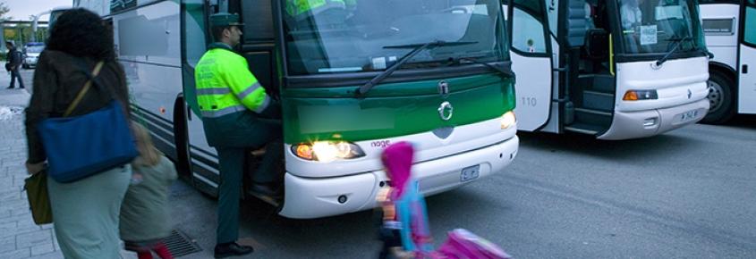 Campaña de vigilancia del transporte escolar
