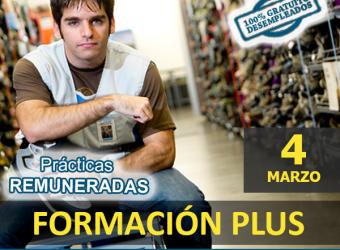DESEMPLEADOS  FORMACIÓN PLUS - Certificado de Profesionalidad de Actividades Auxiliares de Comercio