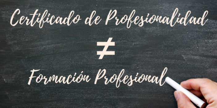 Diferencias entre un Certificado de Profesionalidad y Formación Profesional