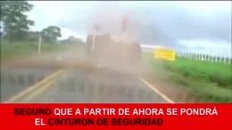 ACCIDENTE EN BRASIL. SEGURO QUE LA PRÓXIMA SE PONE EL CINTURÓN DE SEGURIDAD