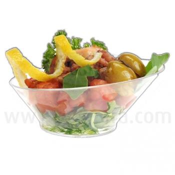 Vaso desechable de plástico para servir aperitivos en catering para eventos y fiestas
